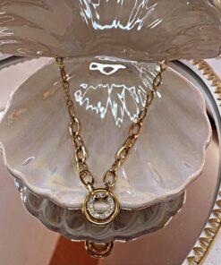 Double Hoop Necklace
