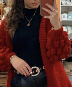 Red Bubble Cardigan