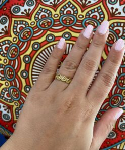 Golden Hearts Ring