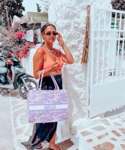 Straw Bag Lilac